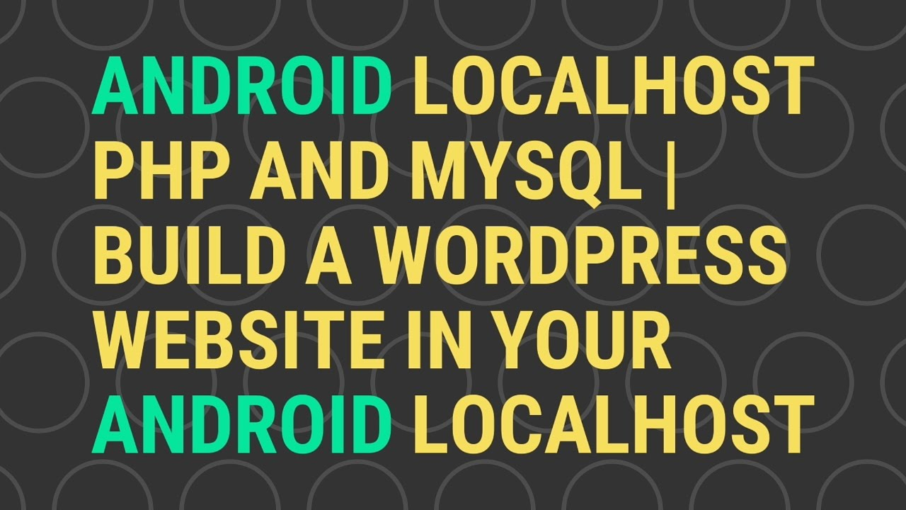 How to Install WordPress on your Android Web Server? - AppySpot
