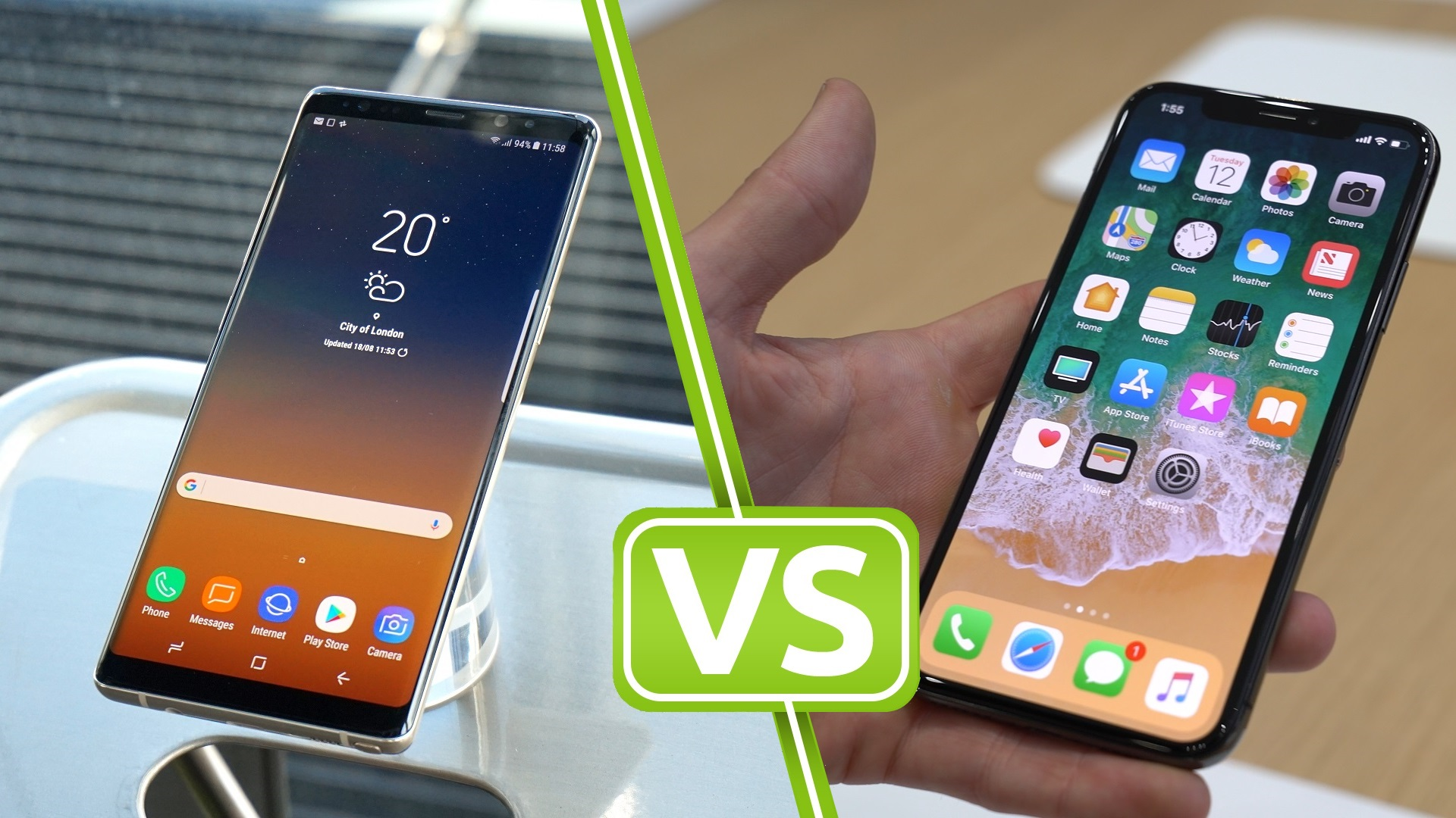 Samsung Galaxy Note 8 Vs Iphone X Specs And Features